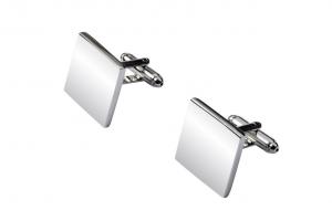 Gemelli quadrati in acciaio cm.1,8x1,8x2h