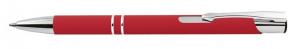 Penna in alluminio gommata rossa cm.14x1x1h