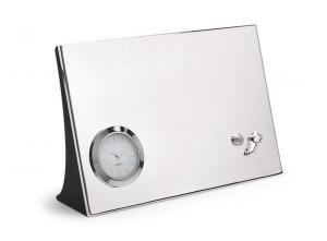 Orologio da tavolo Calcio silver plated cm.18x12x4,7h