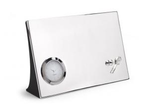 Orologio da tavolo Tennis silver plated cm.18x12x4,7h