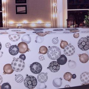 Tovaglia natalizia rettangolare 6/8 persone 150x230 cm TAG HOUSE - BALLY bianco