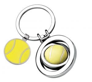 Portachiavi Pallina da Tennis cm.7,6x3,5x1h