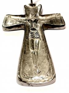 Croce Pettorale in Argento Cristo 10 x 6,5 cm