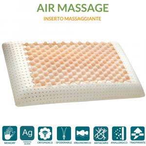 Cuscino Memory Massage con tessuto Silver