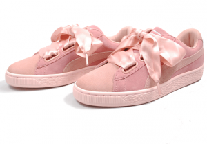 Sneakers donna PUMA Suede Heart Pebble Rosa