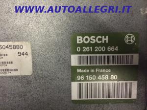 ECU Centralina motore Peugeot 405 Citroen Xantia ZX 1,8L BOSCH 0261200664, 9615045880, 0 261 200 664