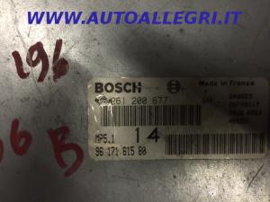 ECU Centralina motore Peugeot 306 1.6 8v BOSCH  0261200677, 0 261 200 677, 9617161580