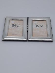 Cornice in argento portafoto portaritratto doppia incernierata a portafoglio, vendita on line| GIOIELLERIA BRUNI Imperia