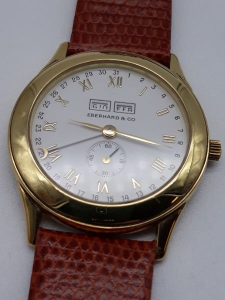 Orologio Uomo Eberhard calendario completo  mese, giorno della settimana giorno del mese mese in oro 750, vendita on line   OROLOGERIA BRUNI Imperia