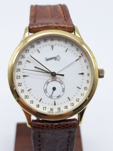 Orologio unisex Eberhard calendario con giorno della settimana e giorno del mese al quarzo in oro 750, vendita on line | OROLOGERIA BRUNI Imperia