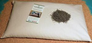 2 Pula di Miglio Bio Aromaterapia Camomilla/Lavanda Cuscino Notte 70x45