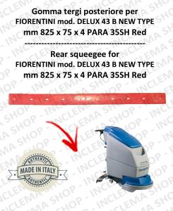 DELUX 43 B new type - GOMMA TERGI posteriore per lavapavimenti FIORENTINI