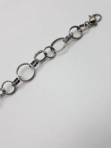 Bracciale donna in argento 925 a cerchi, vendita on line   GIOIELLERIA BRUNI Imperia