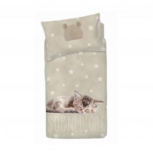 Set copripiumino per lettino con sponde BASSETTI SOGNI D'ORO neonato