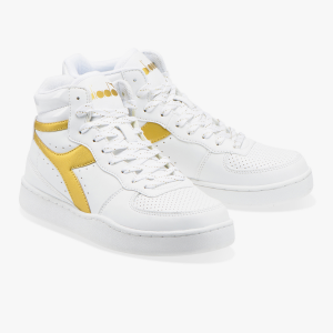 SNEAKERS PLAYGROUND HIGH WN 101. 173749 01 C1070 WHITE/GOLD