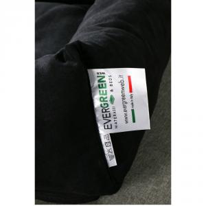 Letto per Cani di diverse Taglie color Nero, Imbottitura in Schiuma Waterfoam Morbido Lavabile in Lavatrice, Cuccia da Interno con Cuscino Sfoderabile, Materasso per Tutti Animali Domestici