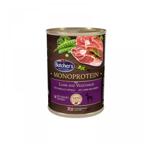 BUTCHERS Monoprotein gusto agnello e ortaggi monoproteico cane umido vaschetta