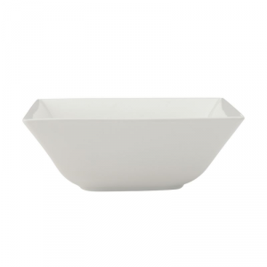 MAXWELL & WILLIAMS Linear ciotola quadrata da tavola di colore bianco 18cm