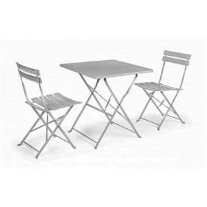 Bizzotto Set Bistrot Anvers White Iron Cabinet