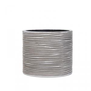 CAPI EUROPE Vaso cylinder rib ivory da interno lite material bianco 12X12X11