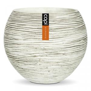 CAPI EUROPE Vaso ball ivory da interno lite material bianco rigato 12,5X10,5