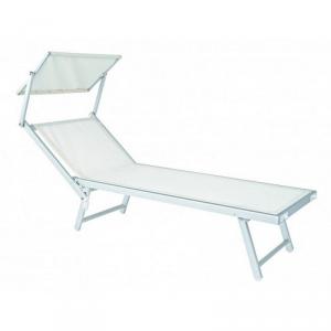 Bizzotto Cot Sea Alutex-white Deckchair With Para Color Sun White