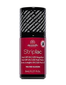 ALESSANDRO INTERNATIONAL Striplac smalto per unghie base e fissante 906 red illusion