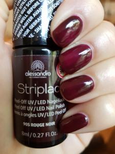 ALESSANDRO INTERNATIONAL Striplac smalto per unghie base e fissante 905 rouge noir