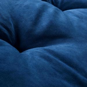 Letto per Cani alto 8 cm Lavabile Materasso Multiuso per Animali Domestici Cuscino Ortopedico in Waterfoam Cuccia Tappeto Sofa Imbottitura 100% Fiocco Effetto Piuma Tessuto Blu