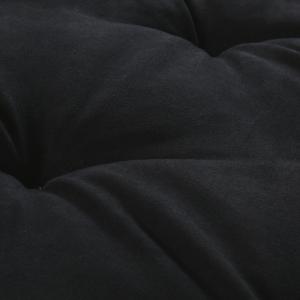 Letto per Cani alto 8 cm Lavabile Materasso Multiuso per Animali Domestici Cuscino Ortopedico in Waterfoam Cuccia Tappeto Sofa Imbottitura 100% Fiocco Effetto Piuma Tessuto Nero