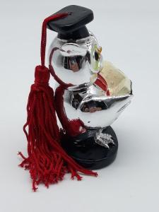 Gufo con laurea argentato, vendita on line | OROLOGERIA BRUNI Imperia