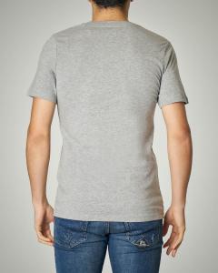 T-shirt grigio chiaro con logo stampato