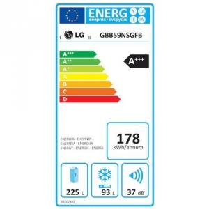 GBB59PZGFS FRIGO COMBI 348LT H190 NF INOX A+++