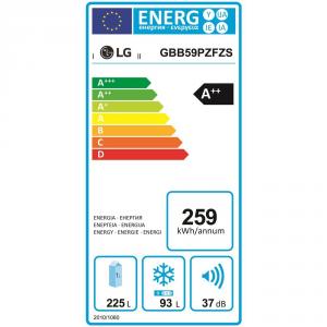 GBB59PZFZS FRIGO COMBI 348LT H190 INOX A++ DISPL