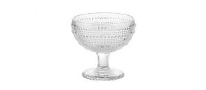 Coppa Gelato Trasparente in Vetro 29cl Set di 6 pezzi cm.10,5h diam.11,5
