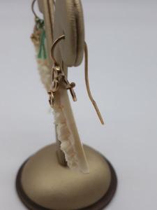 Orecchini in Osso Fossile decorati a Fiori, vendita on line | GIOIELLERIA BRUNI Imperia