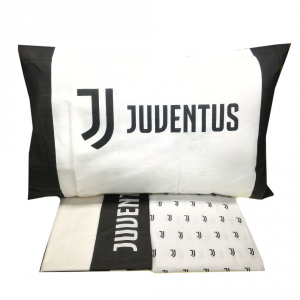 JUVE Set lenzuola Matrimoniale JUVENTUS bianco e nero Official Product
