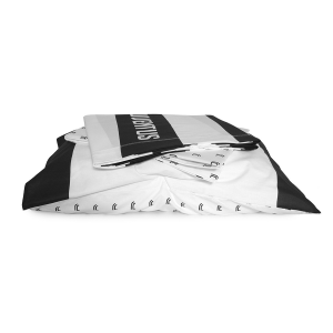 JUVE Double Bed Sheet Set JUVENTUS white and black Official Product