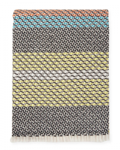 Missoni Home plaid con frange 130x180 cm SHIRO 160 pura lana