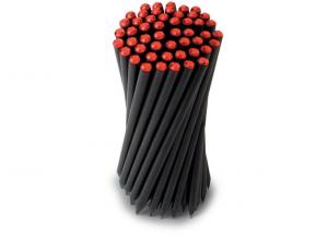 Tubo pvc con matite cristallo rosso Laurea confezione 50 pezzi cm.18x0,73x0,73h