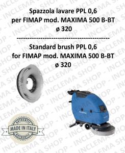 MAXIMA 500 B-BT SPAZZOLA LAVARE  in PPL 0,60 Dimensioni ø 495 X 120 3 pioli per lavapavimenti FIMAP