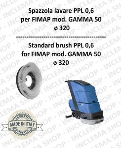 GAMMA 50 SPAZZOLA LAVARE  in PPL 0,60 Dimensioni ø 495 X 120 3 pioli per lavapavimenti FIMAP