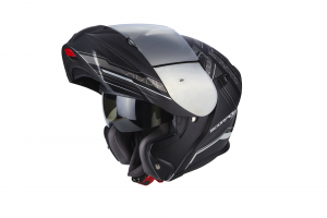 CASCO MOTO MODULARE SCORPION EXO-920 SATELLITE MATT BLACK SILVER