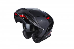 CASCO MOTO MODULARE SCORPION EXO-920 SHUTTLE BLACK RED