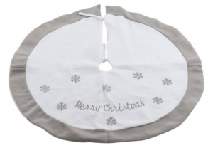 KAEMINGK Pes Tree Skirt W Snowflakes Color White Size 89 cm Tree Christmas 614