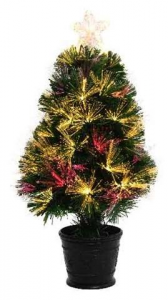 KAEMINGK Alford Fibers Optic Tree Nf , Color Green Size 60Cm 59L Tree Christmas 388