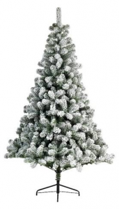 KAEMINGK Snowy Imperial Pine Color Green / White Size 180 cm Tree Christmas 343