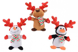 KAEMINGK Pes Fig Sing Move Antler 3A Bo Colour: Multi Size: 11X10X25Cm Peluche 842
