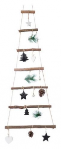 KAEMINGK Pinewood Tree W Deco Color Natural Size 29X90 cm Tree Christmas Decorate 396