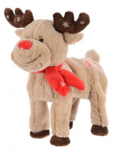 KAEMINGK Pes Walking Deer W Music Bo Colour: Assorted Size: 28X24X28Cm Peluche 746